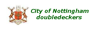 City of Nottingham doubledeck buses
